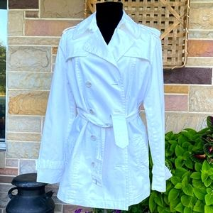 Bitten Sz M white trench coat lined